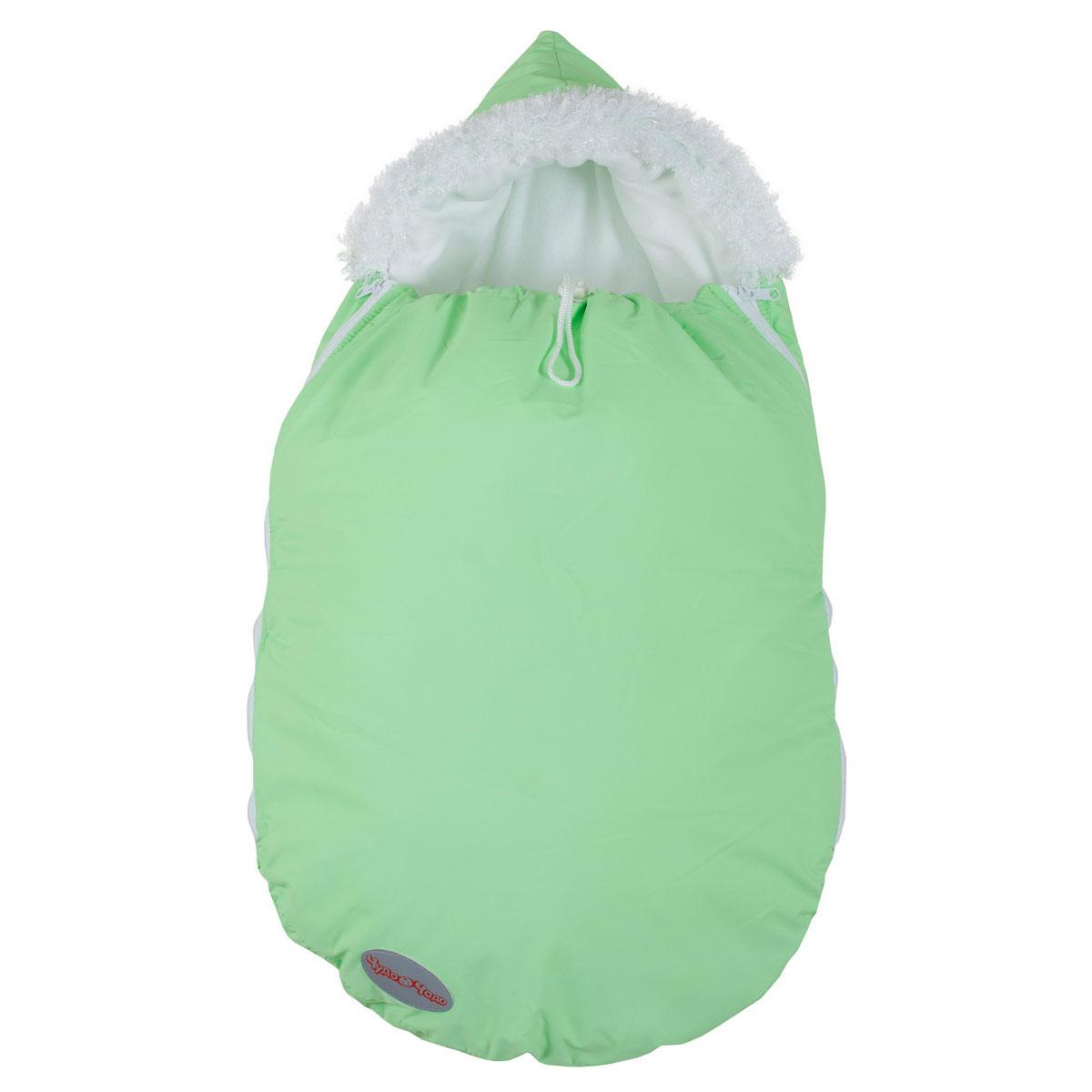 Конверт Чудо-Чадо Зимовенок для новорожденых Салатовый<br>