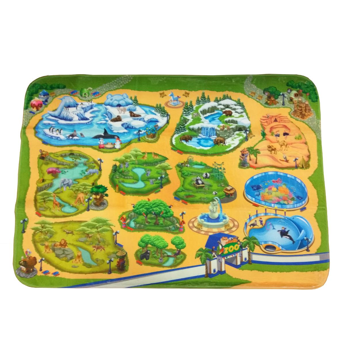 Детский игровой коврик Teplokid ультрамягкий Зоопарк 130х180 см<br>