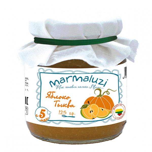 Пюре Marmaluzi овощное 125 гр Яблоко тыква (с 5 мес)<br>