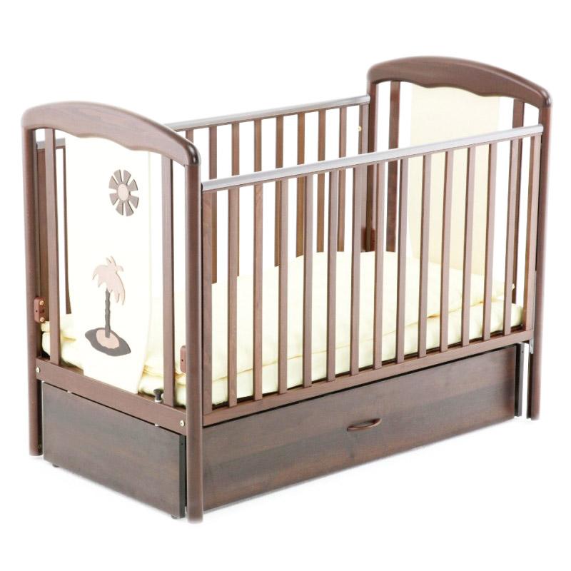 Кровать Papaloni Vitalia 125х65 маятник продольный Шоколад и Слоновая кость<br>