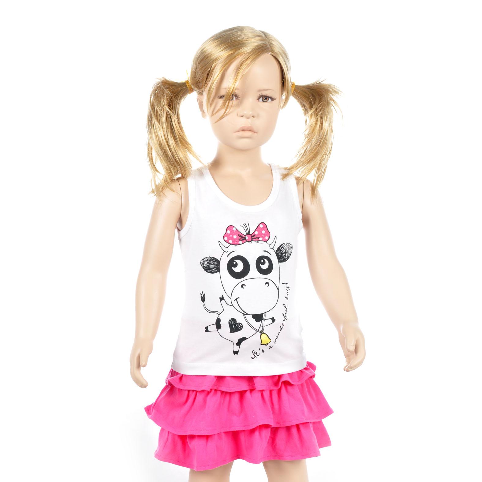 Майка для девочек FOX, цвет белый 12-18 мес.