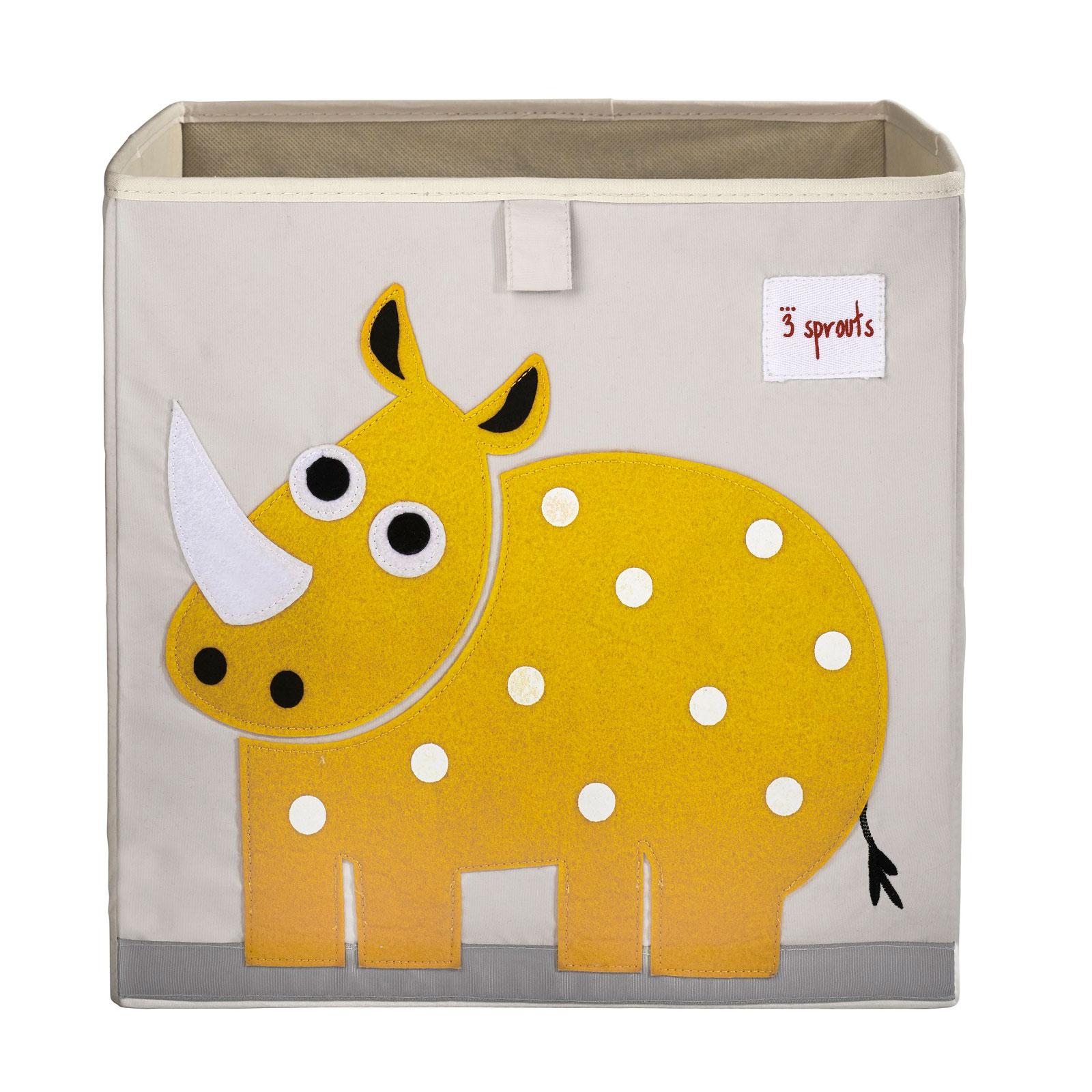 Коробка для хранения 3 Sprouts Носорог (Yellow Rhino) Арт. 00007