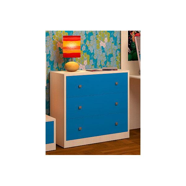 Комод РВ-Мебель Дуб молочный/Голубой<br>