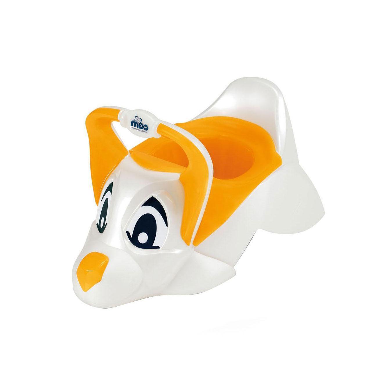 Горшок Cam DuDu Цвет - белый с оранжевым<br>
