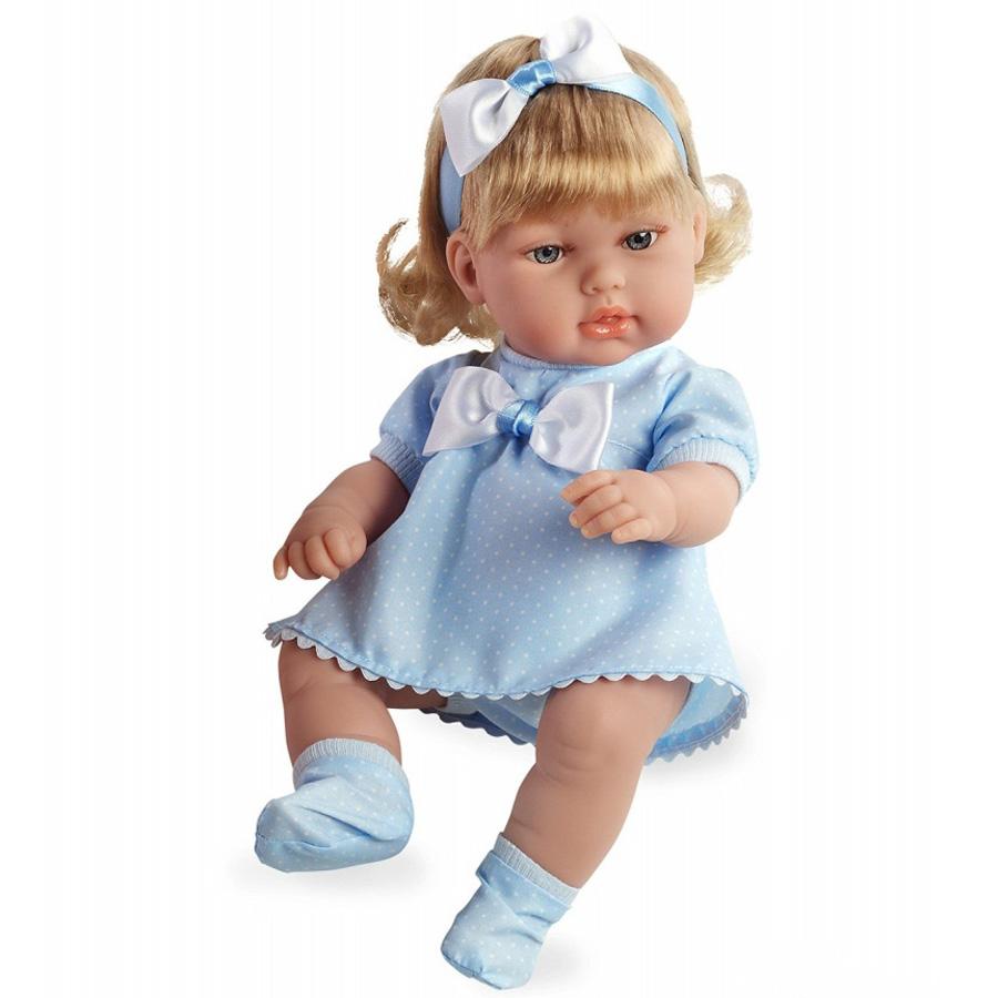 Кукла Arias 33 см Блондинка в голубом платье с бантом<br>