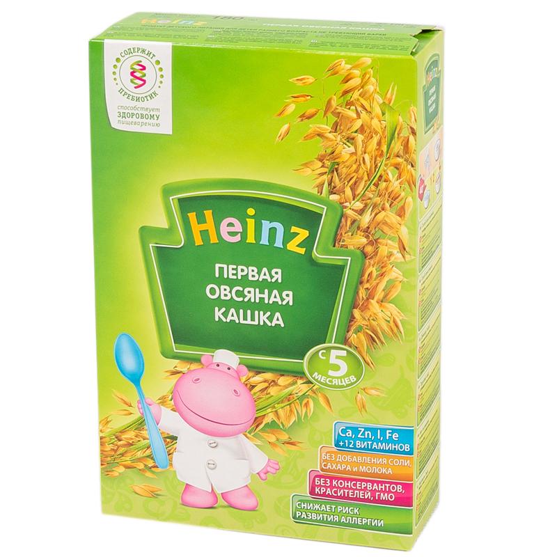Каша Heinz низкоаллергенная безмолочная 180 гр Овсяная с пребиотиками (с 5 мес)<br>
