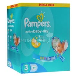 Подгузники Pampers Active Baby Midi 4-9 кг (150 шт) Размер 3