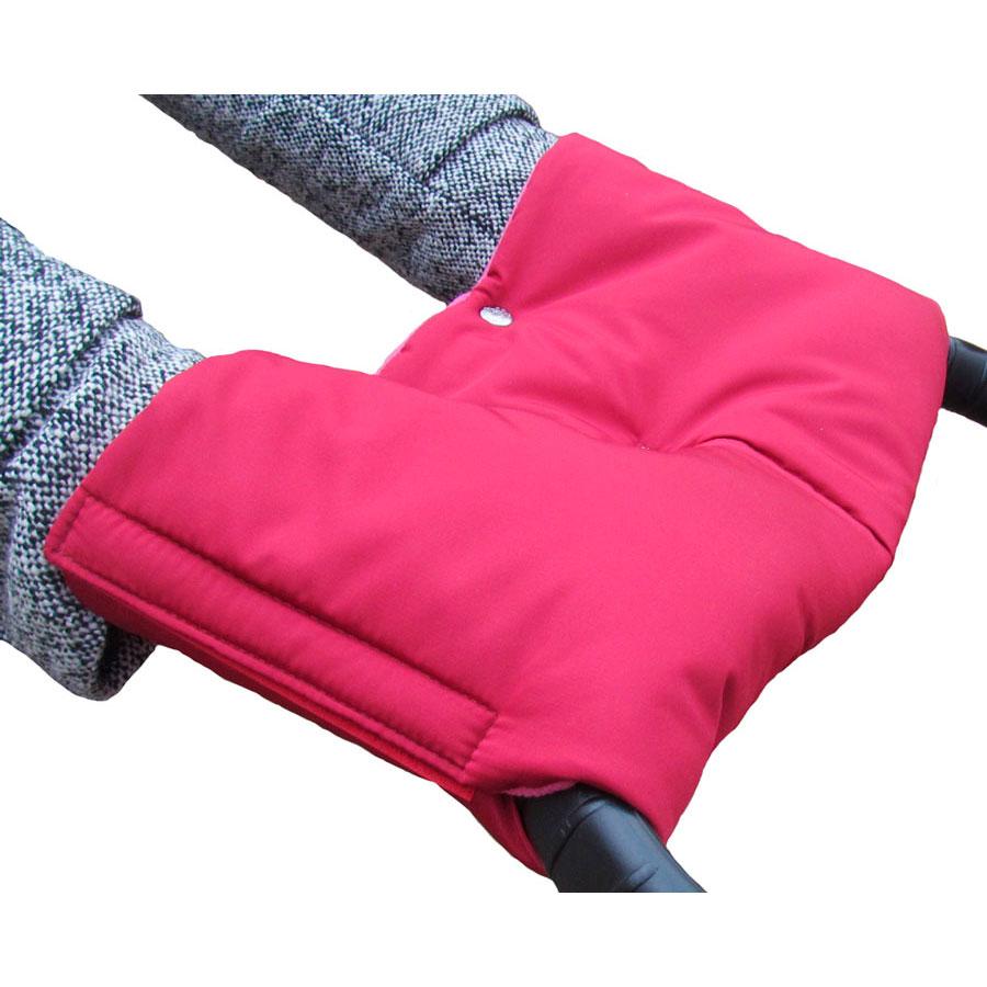 Муфта для коляски Чудо-Чадо флисовая (на липучке) Вишневый<br>