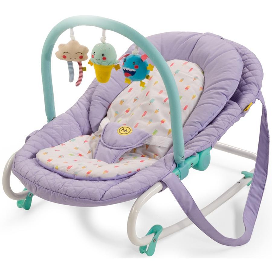 Шезлонг Happy Baby Nesty Фиолетовый<br>