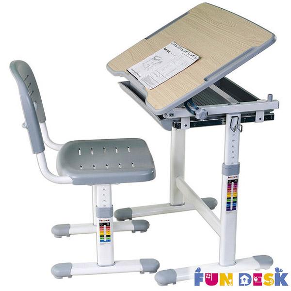Набор мебели FunDesk PICCOLINO парта и стул GREY<br>