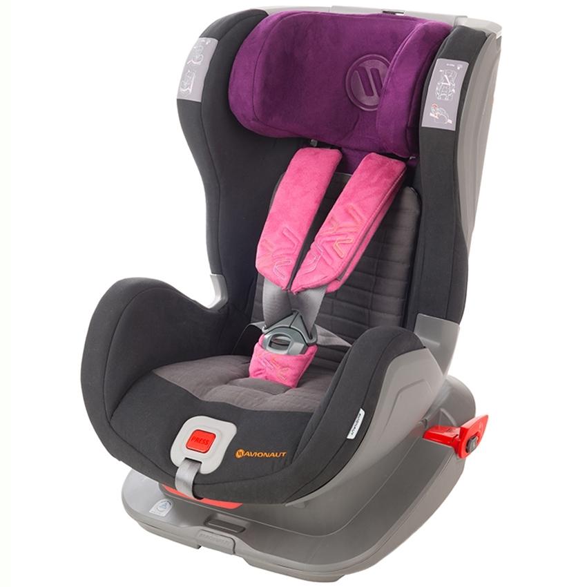 Автокресло Avionaut Glider Softy Черный с фиолетовым<br>