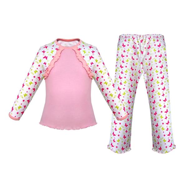 Пижама Детская радуга Бабочки Размер 104<br>