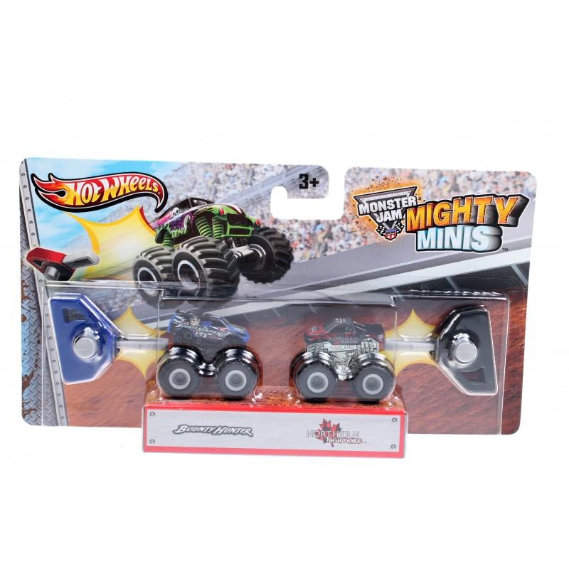 Набор машинок Hot Wheels Monster Jam Mighty Minis Bounty Hunter, Northern Nightmare