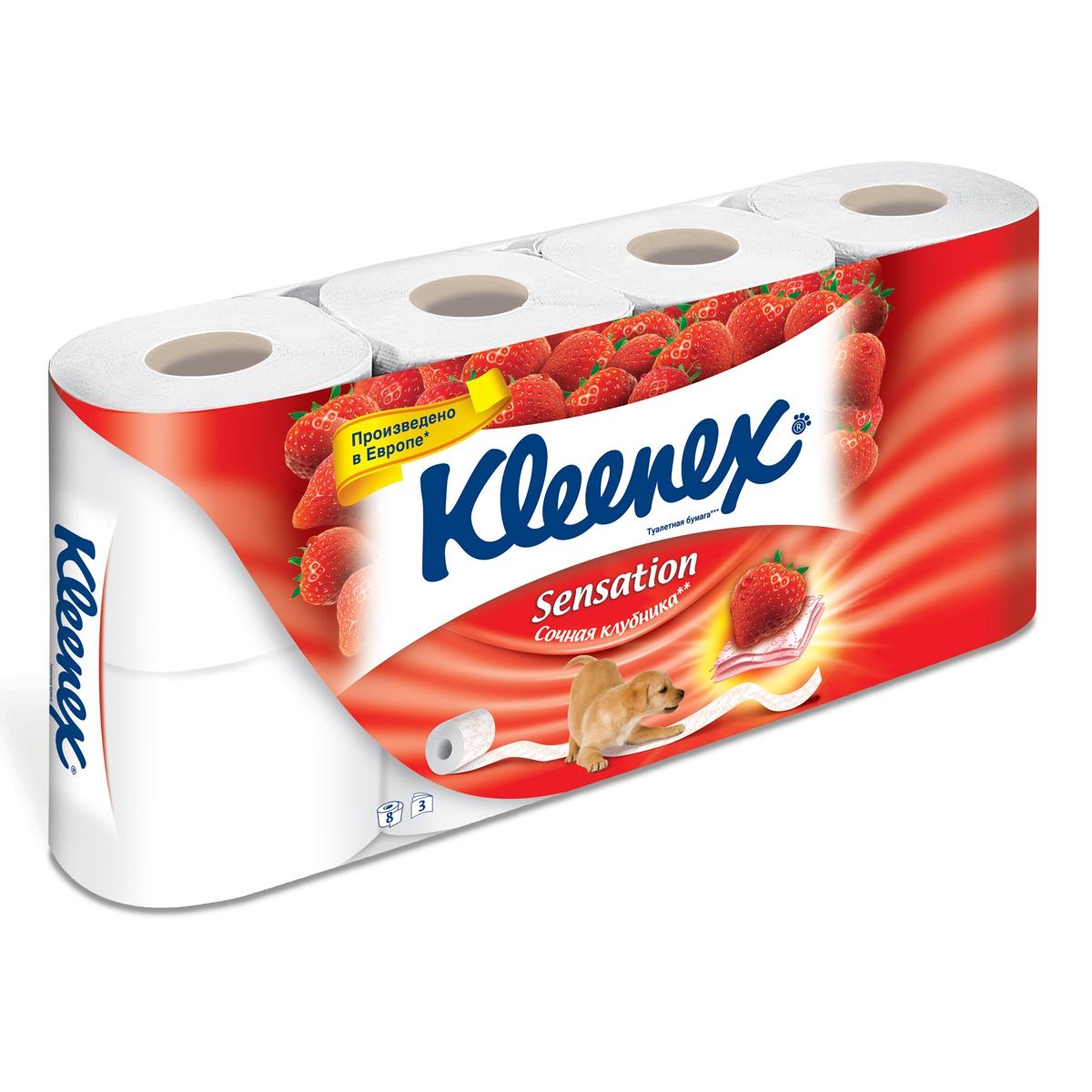 Клинекс туалетная бумага клубника