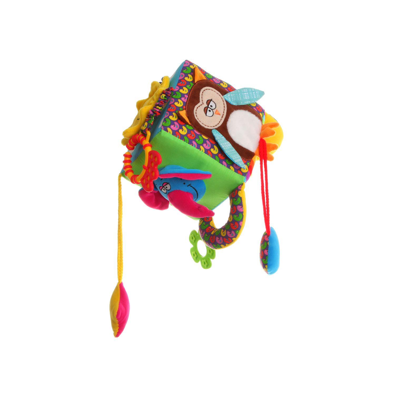 Мягкая развивающая игрушка Bondibon Куб 13.5 см<br>
