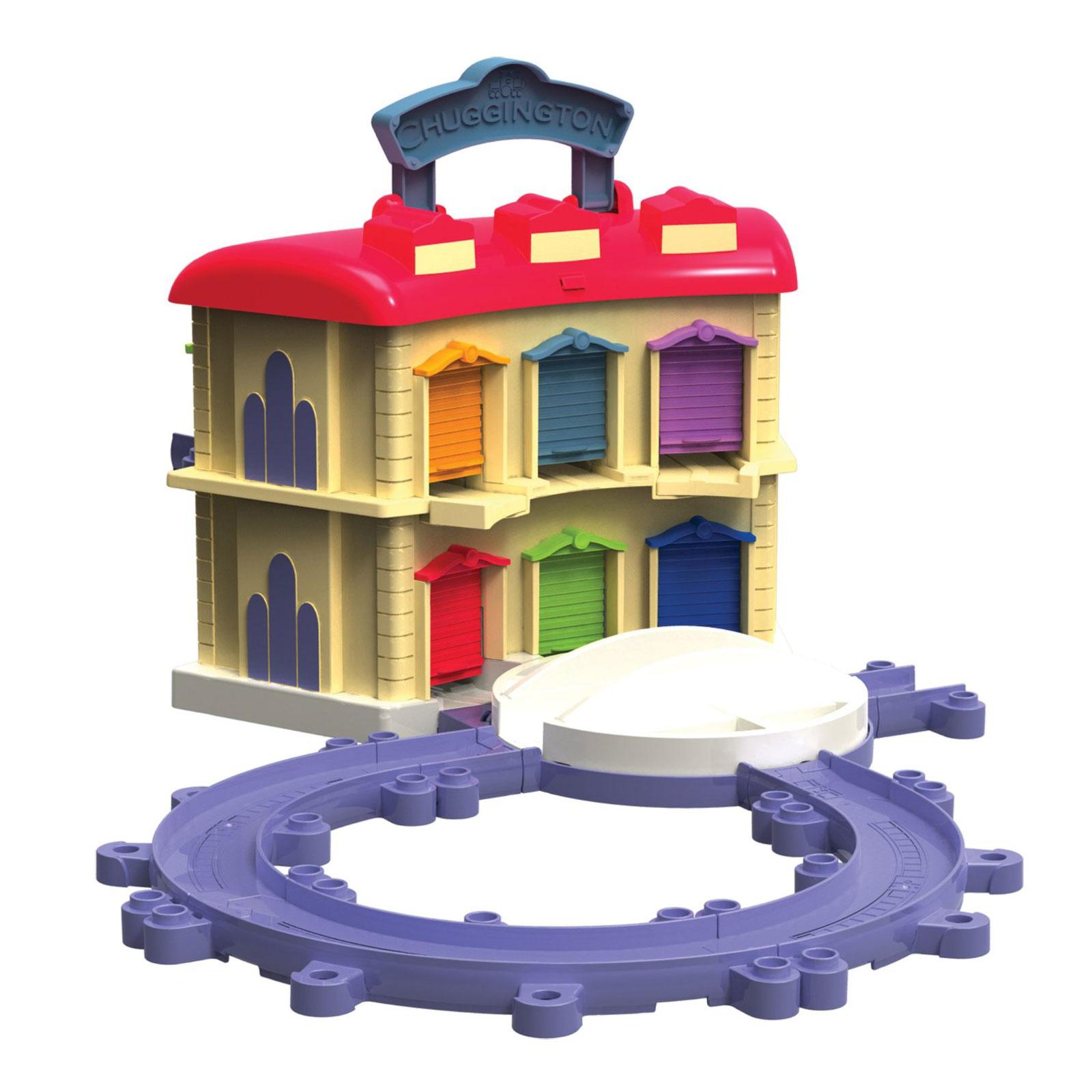 Игровой набор Chuggington Двухэтажное депо с Брюстером с 3 лет.<br>