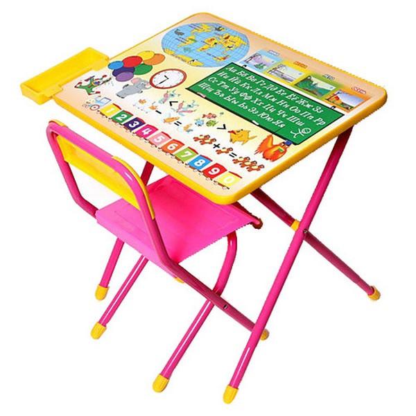 Набор мебели стол и стул Дэми №1 Розовый Глобус<br>
