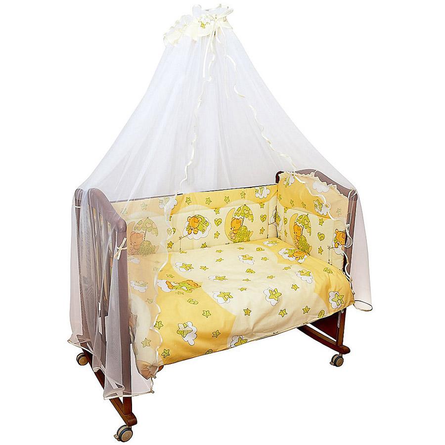 Комплект в кроватку Сонный гномик Мишкин сон 7 предметов Бежевый<br>
