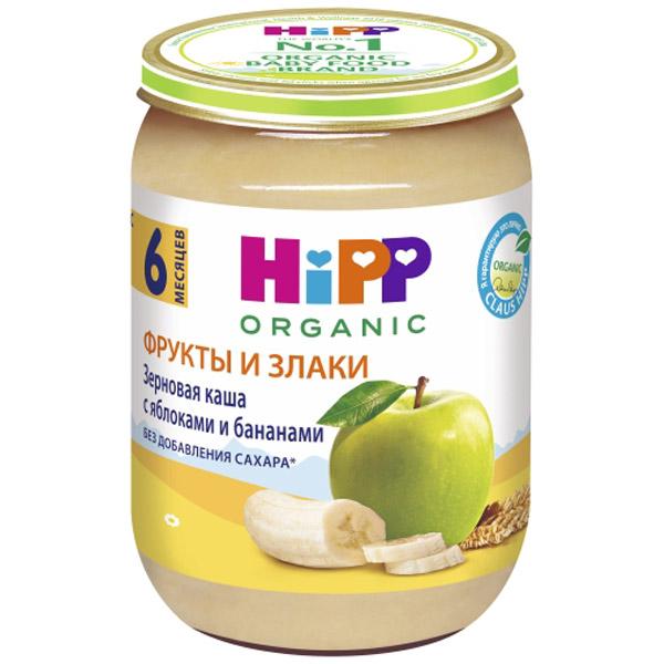 Каша Hipp зерновая с фруктами 190 гр Зерновая с яблоками и бананами (с 6 мес)<br>