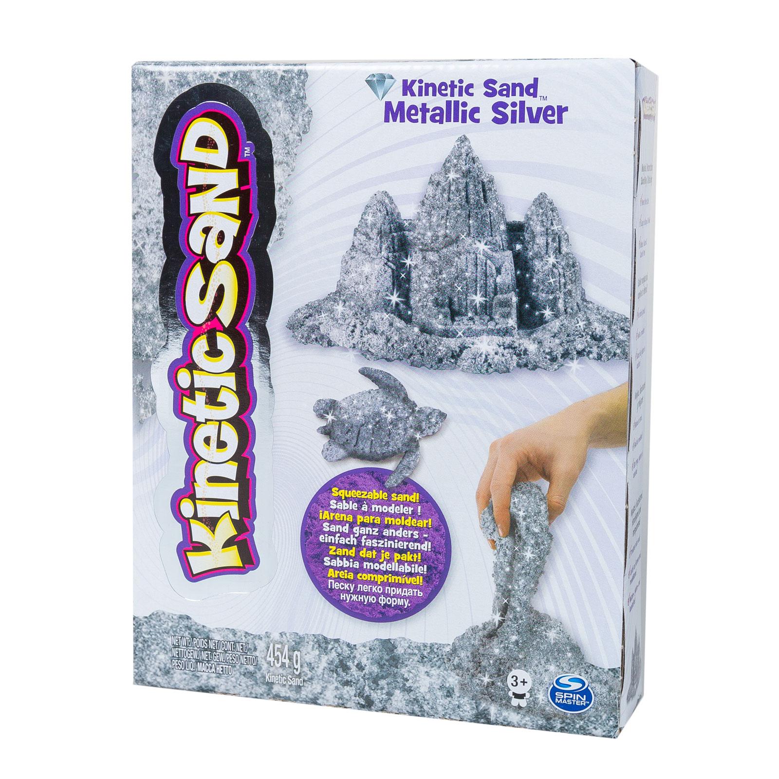 Кинетический песок Kinetic sand Серебрянный<br>