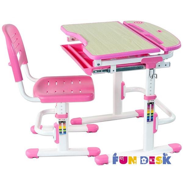 Набор мебели FunDesk Sorriso парта и стул Pink<br>