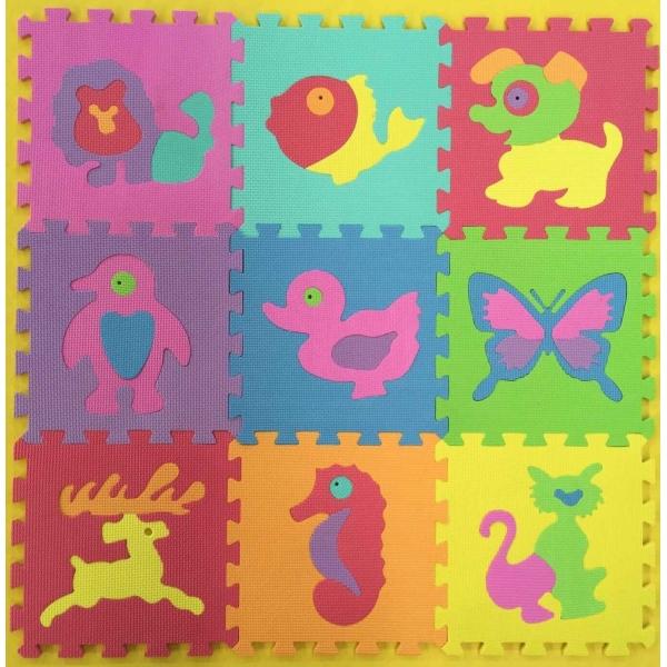 Коврик-пазл Играем вместе С животными 9 сегментов<br>