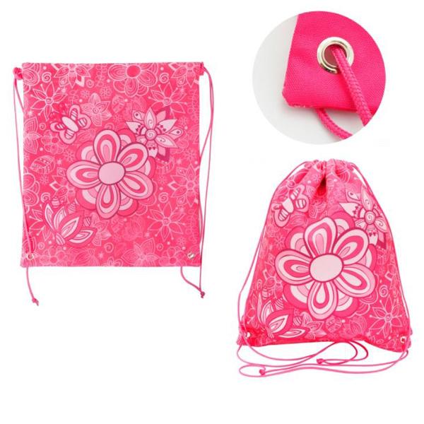 Мешок для обуви ACTION! by TIGER Цветы Розовый<br>