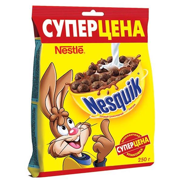 Готовые завтраки Nestle 250 гр Шоколадные шарики Пакет NESQUIK<br>
