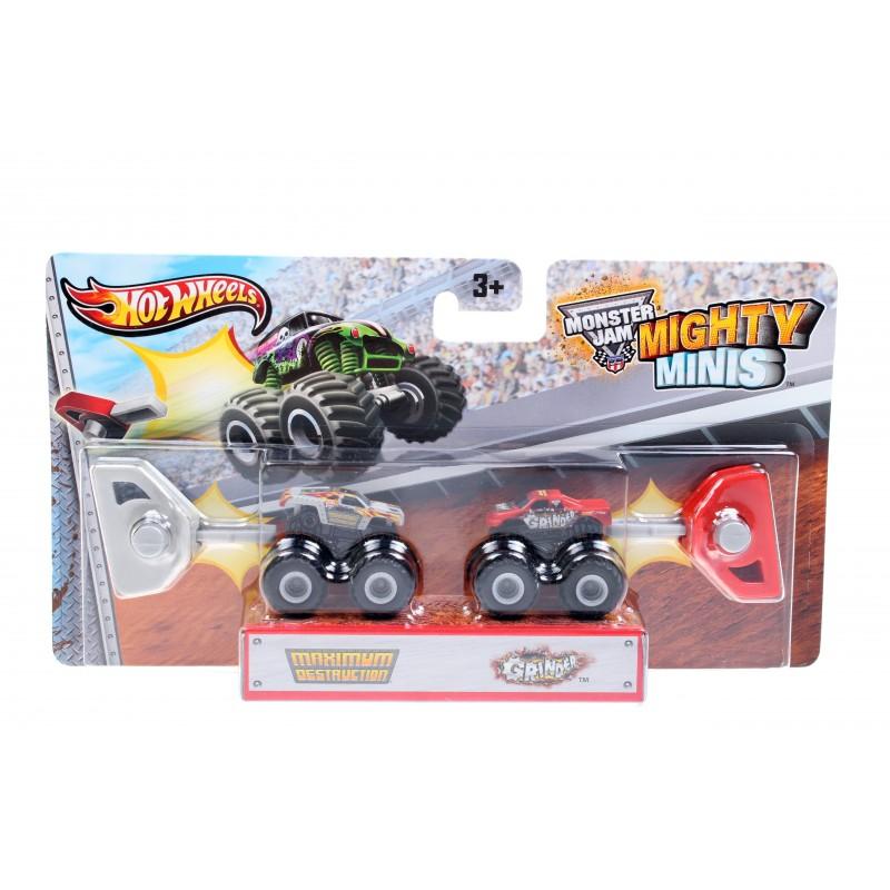 Набор машинок Hot Wheels Monster Jam Mighty Minis Maximum Destruction, Grinder