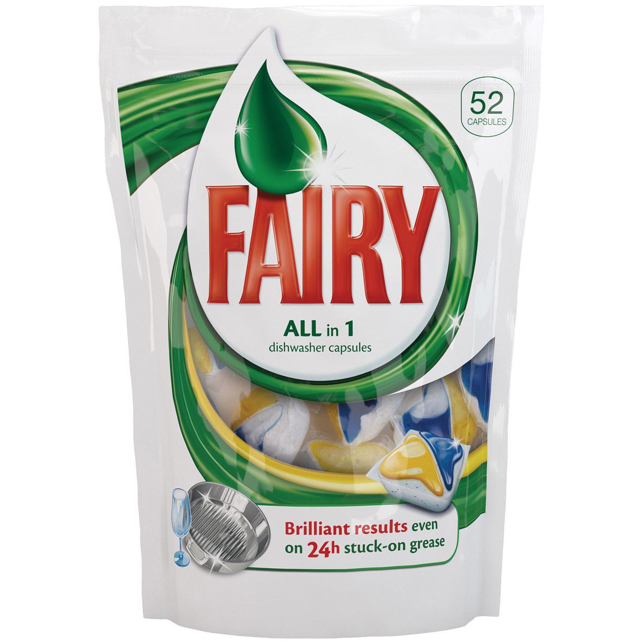 Капсулы для посудомоечной машины FAIRY All in One (52 шт)<br>