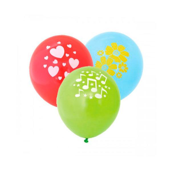 Воздушные шары ACTION! с одноцветным рисунком 30 см. 100 шт.<br>