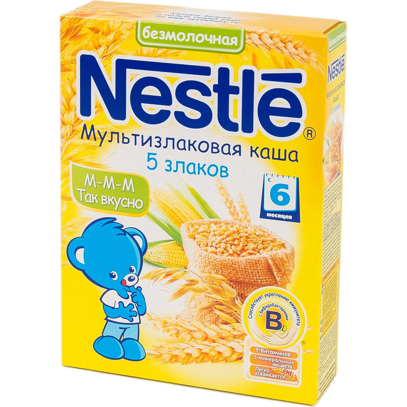 Каша Nestle безмолочная 200 гр Мультизлаковая 5 злаков (с 6 мес)<br>
