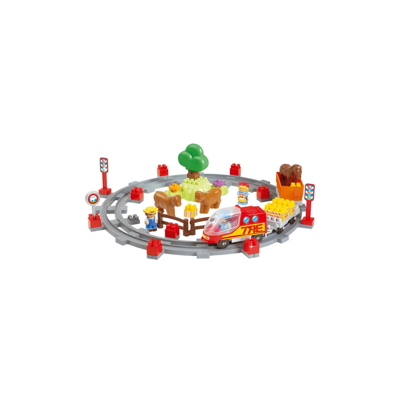 Конструктор Ecoiffier Сельский поезд (49 предметов)<br>