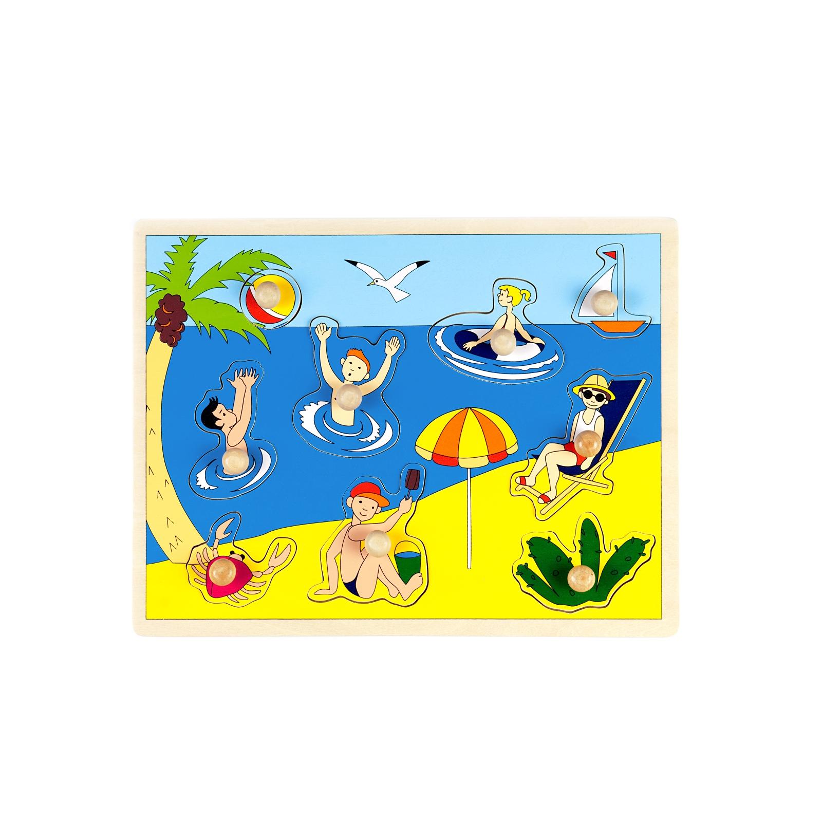 Развивающая игрушка Маленький гений Сюжетная картинка На пляж<br>