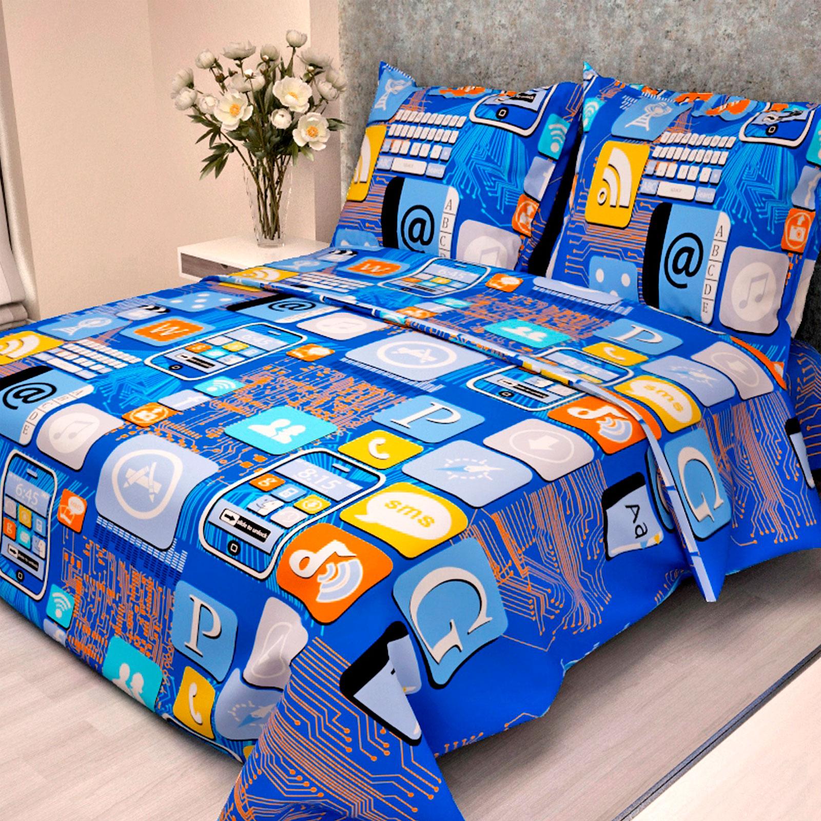 Комплект постельного белья детский Letto с наволочкой 50х70 Смартфон