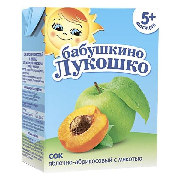 Сок Бабушкино лукошко 200 мл (тетрапак) Яблоко абрикос (с 5 мес)<br>