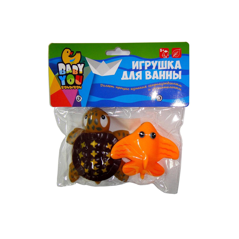 Игрушки для ванной Bondibon Черепаха, Скат