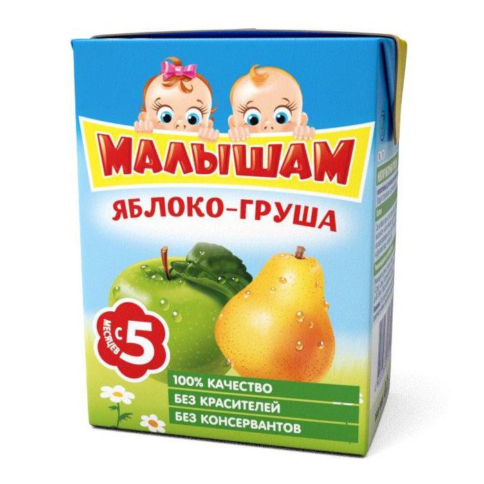 Нектар Малышам 200 мл (тетрапак) Яблочно-грушевый с мякотью (с 5 мес)<br>
