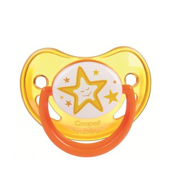 Пустышка Canpol Babies Night Dreams Анатомическая силиконовая (6-18 мес) желтая<br>