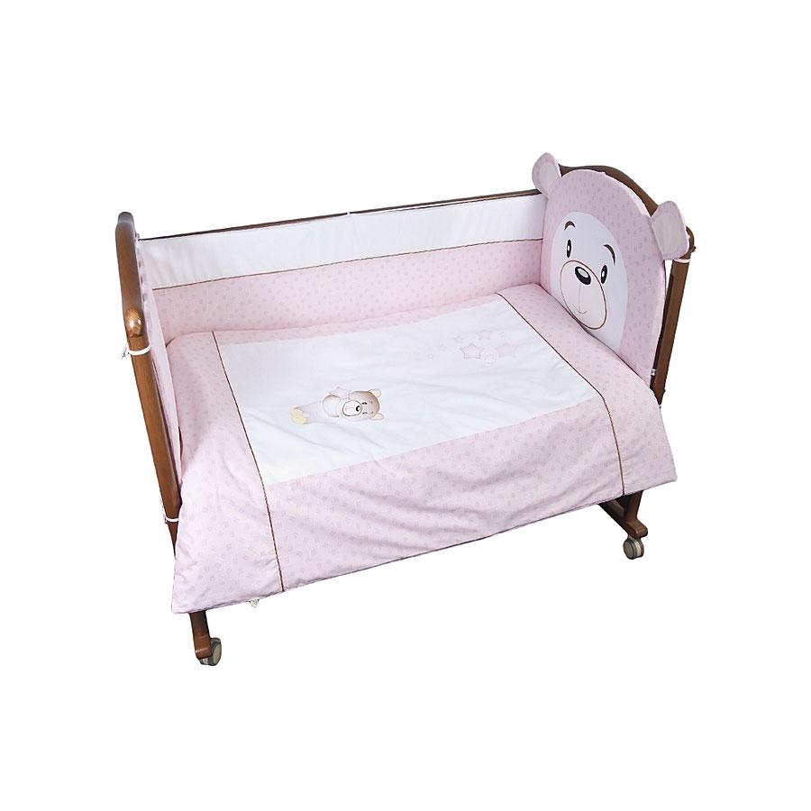 Комплект в кроватку Сонный гномик Умка 7 предметов Розовый<br>