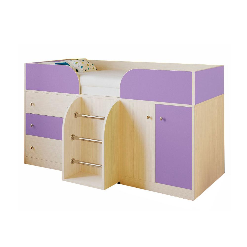 Набор мебели РВ-Мебель Астра 5 Дуб молочный/Фиолетовый<br>