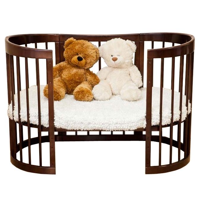 Кроватка трансформер Можга 8 в 1 Паулина С-322-09 Шоколад<br>