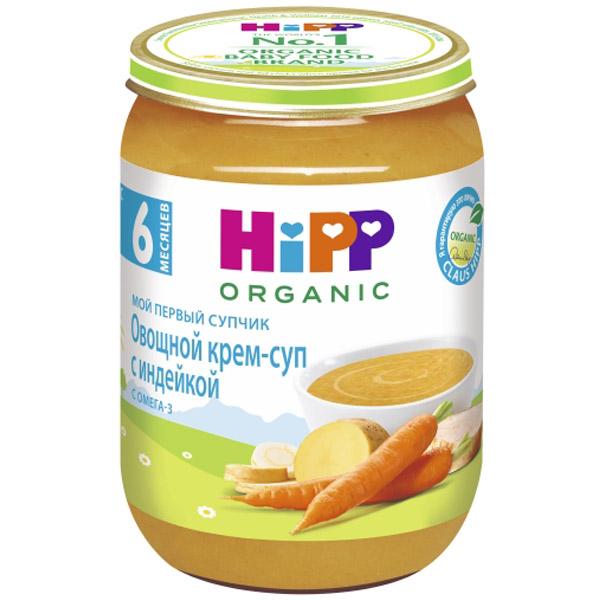 Пюре Hipp Мой первый супчик 190 гр Овощной с индейкой (с 6 мес)<br>