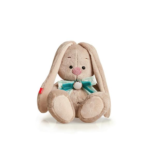 Мягкая игрушка Зайка Ми с бирюзовым бантом 15 см