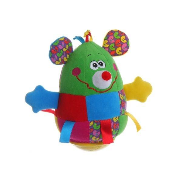 Мягкая развивающая игрушка Bondibon Неваляшка Мышь 19 см<br>