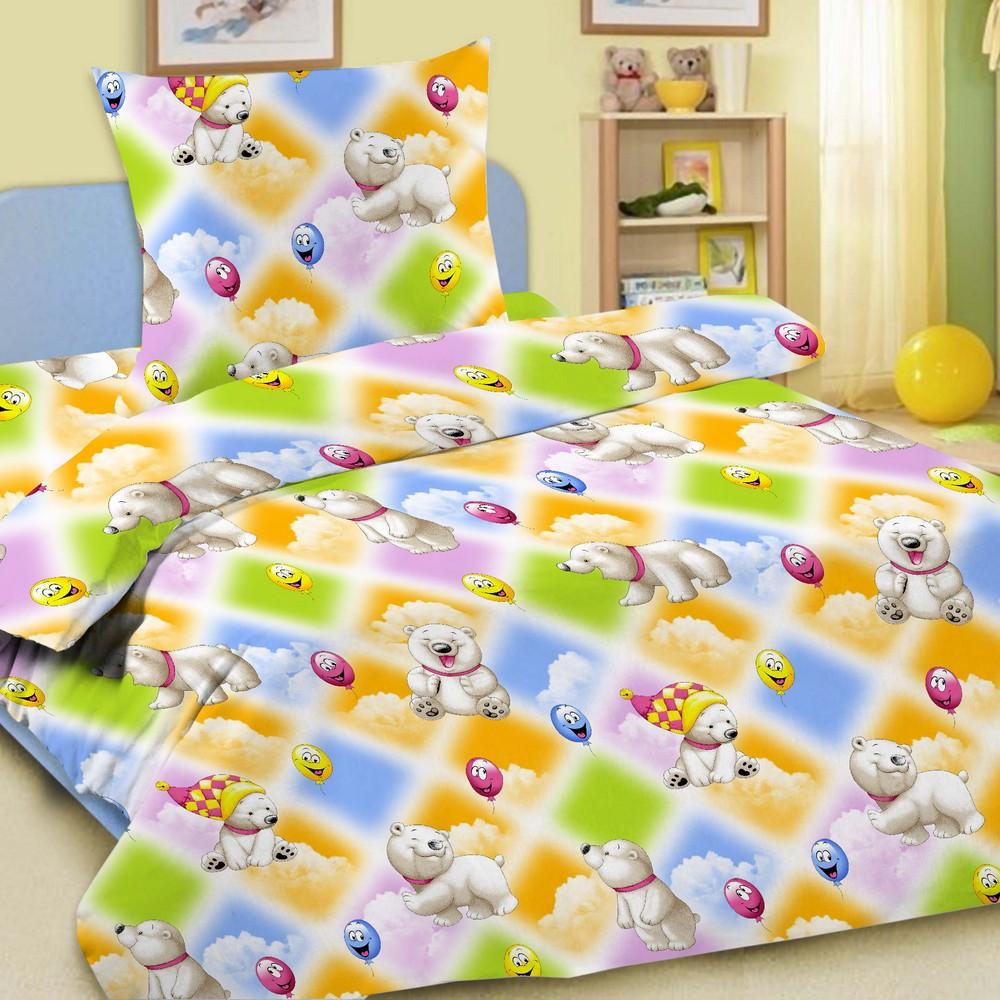 Комплект постельного белья детский Letto в кроватку BG-08 Мишки