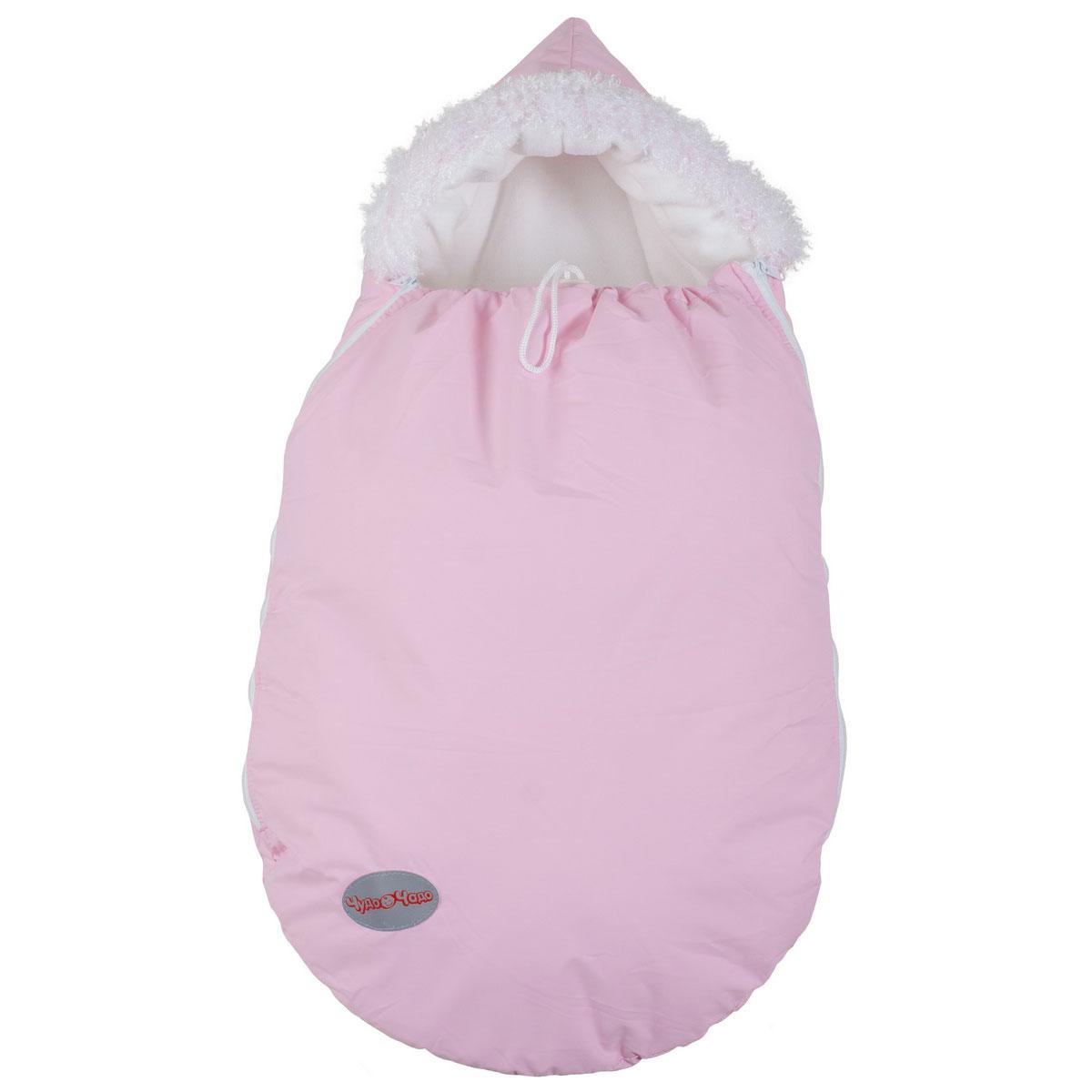 Конверт Чудо-Чадо Зимовенок для новорожденых Бледно-розовый<br>