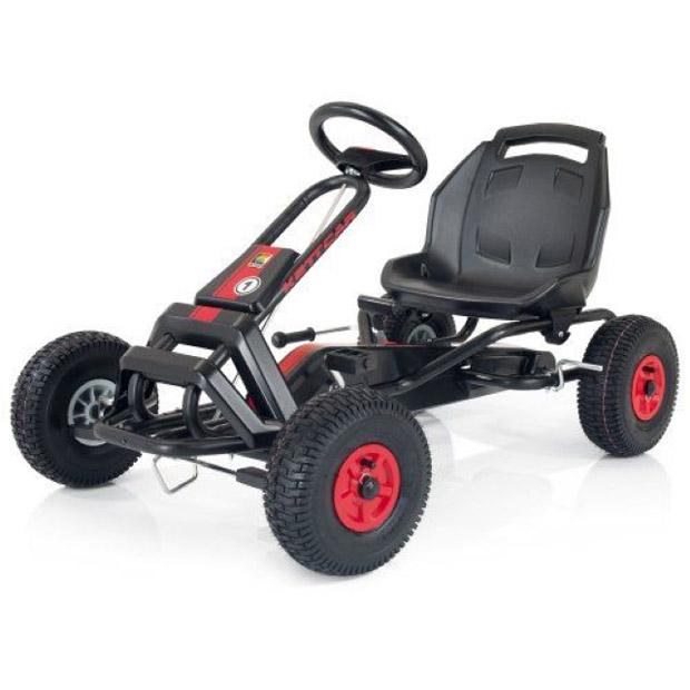 Педальная машина Kettler Кетткар Barcelona Черная с красным<br>