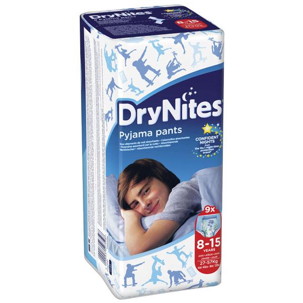Трусики Huggies DryNites ночные для мальчиков от 8-15 лет 27-57 кг (9 шт)