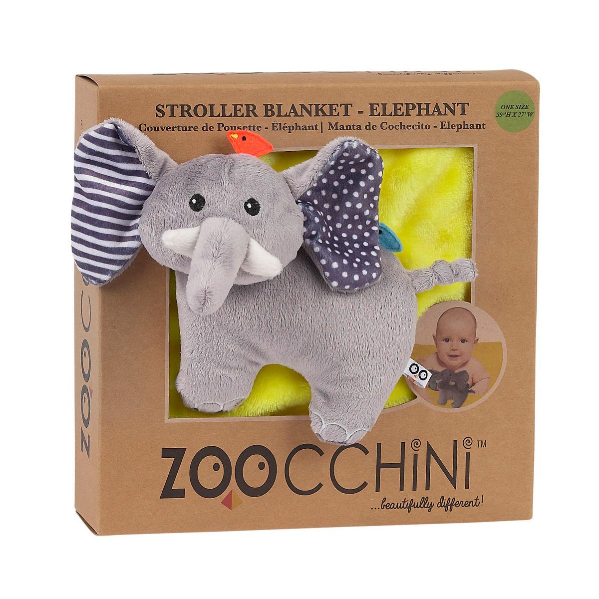 Одеяло Zoocchini с игрушкой Слон<br>